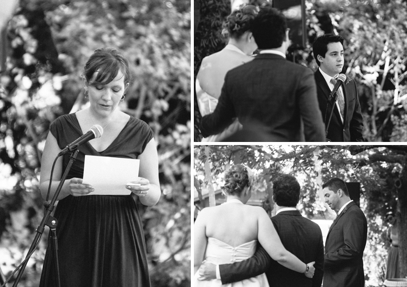readings at Los Angeles Eagle Rock Women's Club outdoor wedding ceremony