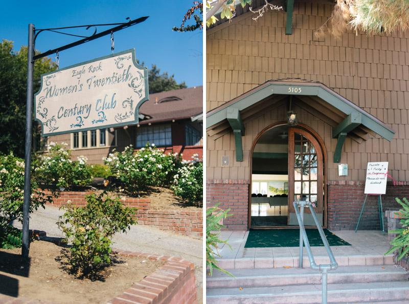 Women's Twentieth Century Club of Eagle Rock historic vintage affordable wedding venue Los Angeles