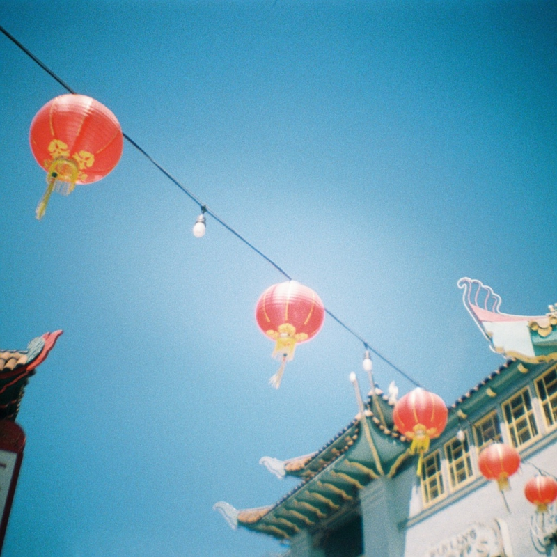 Los Angeles Old Chinatown red lanterns toy camera photography