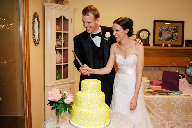 Cute, sweet, at home wedding reception in Los Angeles, Rancho Palos Verdes