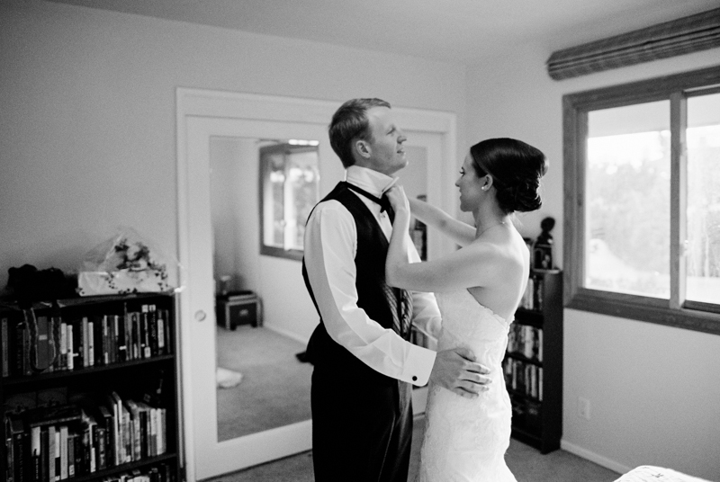 Los Angeles film wedding photography black and white bride and groom