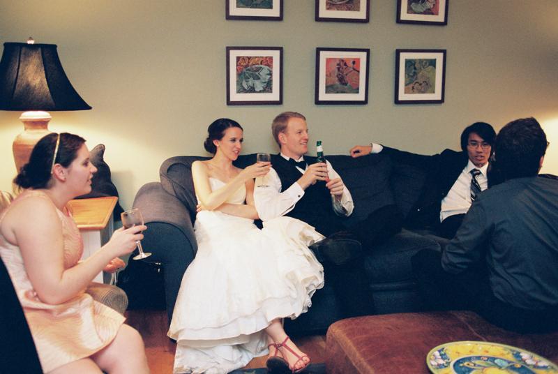 Elegant backyard wedding at home reception Los Angeles