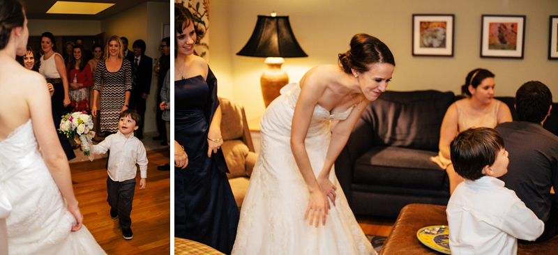 Indie, quirky, relaxed, candid wedding photography at intimate Los Angeles home wedding