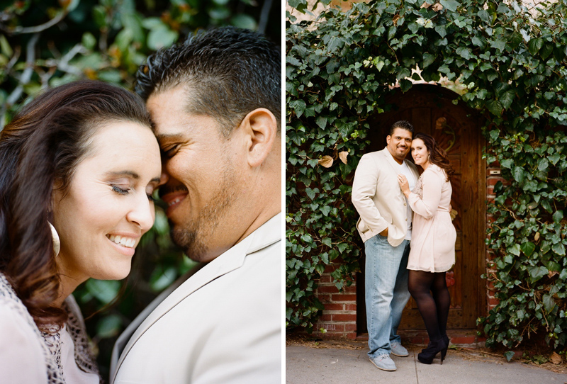 Sweet natural photography of engagements and anniversaries for Los Angeles couples