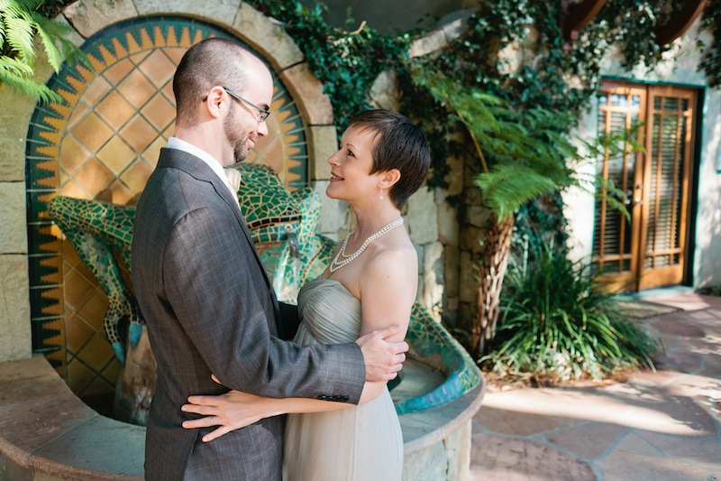 Ojai wedding photographer. Bride and groom first look.