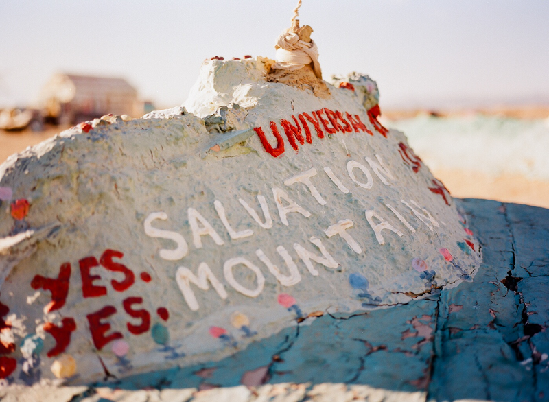 Salvation Mountain cool artsy venue for California engagement and elopement photography
