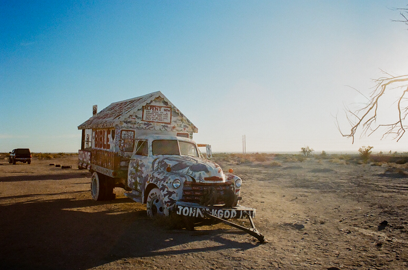 Salvation Mountain by Los Angeles film photographer Jessica Schilling