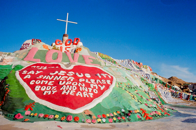 Salvation Mountain art installation Southern California wedding, engagement, or elopement location