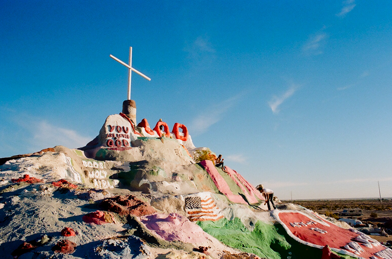 Salvation Mountain unique, indie, quirky, alternative, offbeat, artsy, hipster wedding or engagement photos