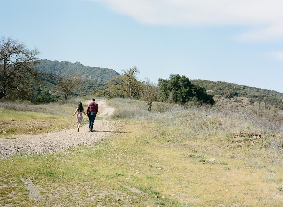 Los Angeles Malibu Agoura Hills Paramount Ranch engagement photos shot on film