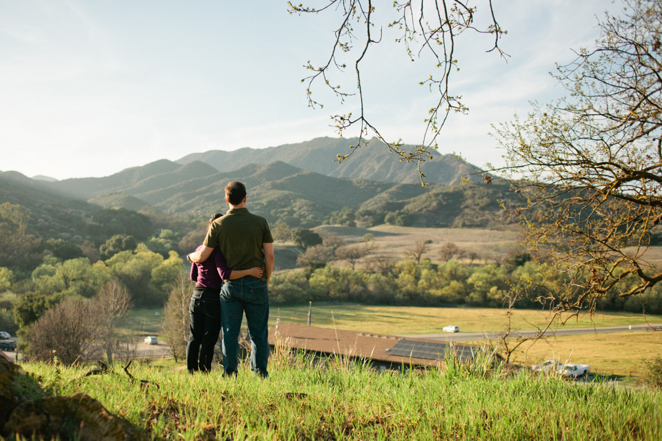 Paramount Ranch engagement photos in Agoura Hills, Malibu Mountains
