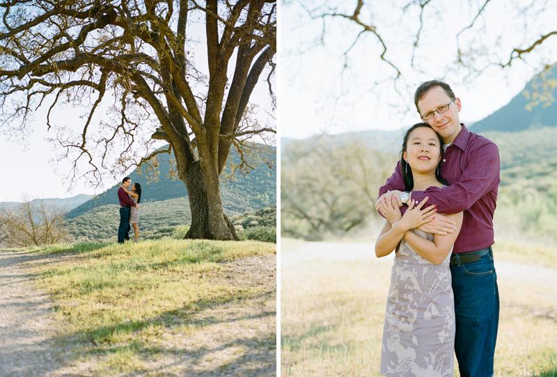 Paramount Ranch engagement photography photos shot on film with Mamiya 645 medium format camera