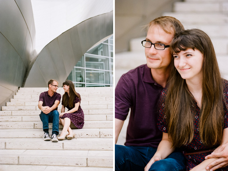Los Angeles 35mm film modern natural authentic engagement photography
