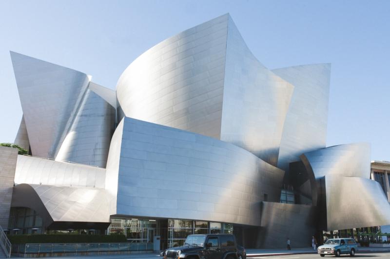 Downtown LA Disney Concert Hall engagement photography