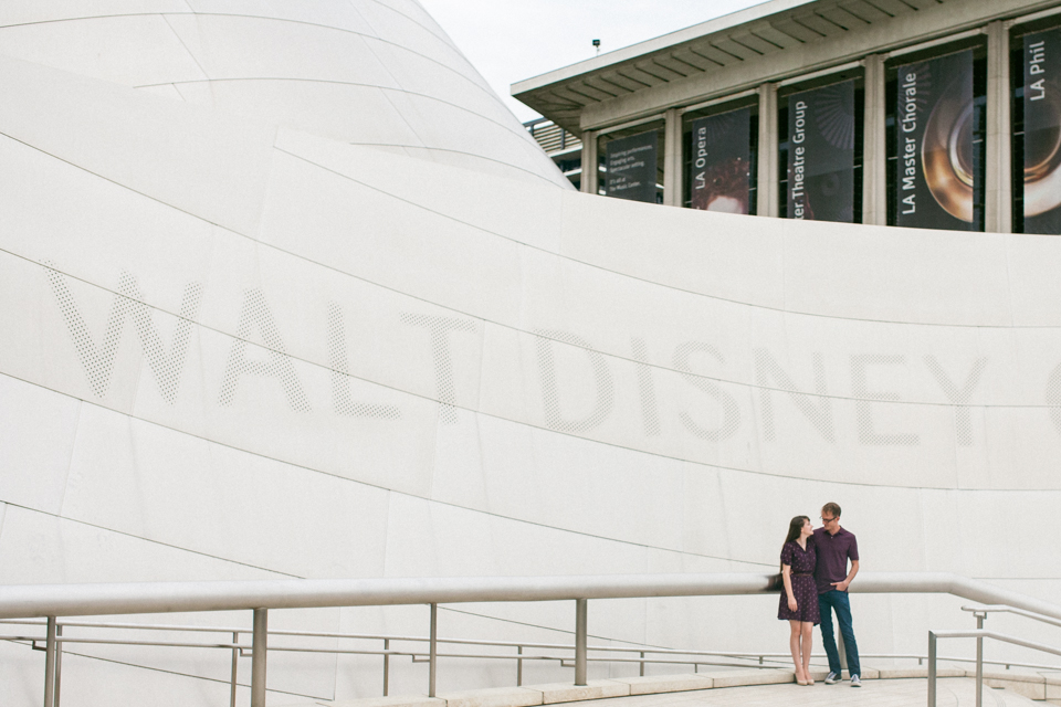 downtown LA disney concert hall engagement photos