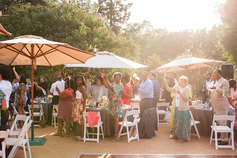 Bon ... Rancho Santa Ana Botanic Garden Wedding Reception Sunset ...