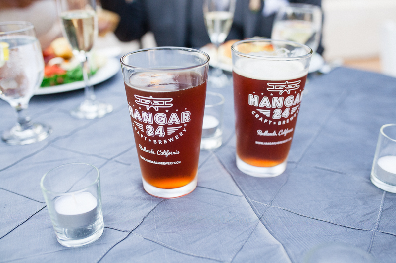 Wedding custom beer pint glasses from local microbrewery