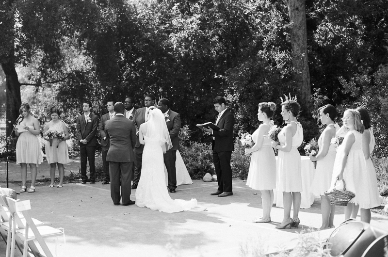 Los Angeles wedding photographer 35mm black and white film.