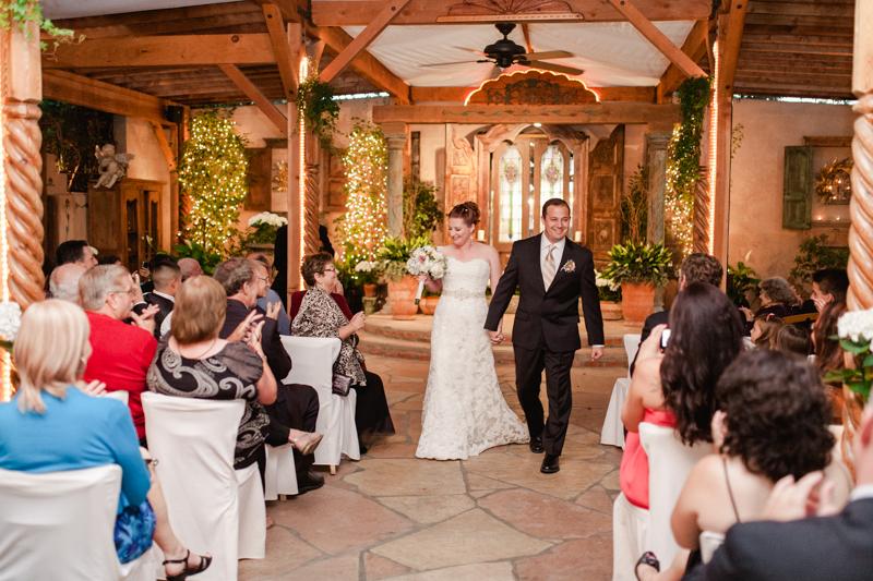 The Hacienda Wedding Ceremony Bride And Groom