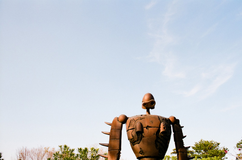 Iron Giant sculpture at Studio Ghibli museum