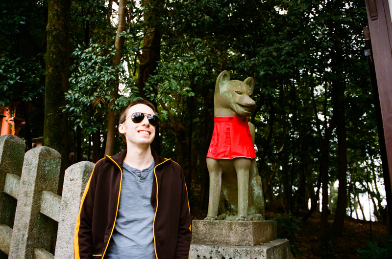Fox statue that inspired StarFox videogames at Fushimi Inari shrine