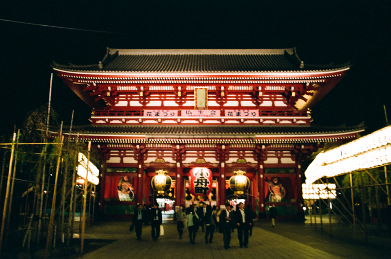 Shensoji temple in Asakusa at night