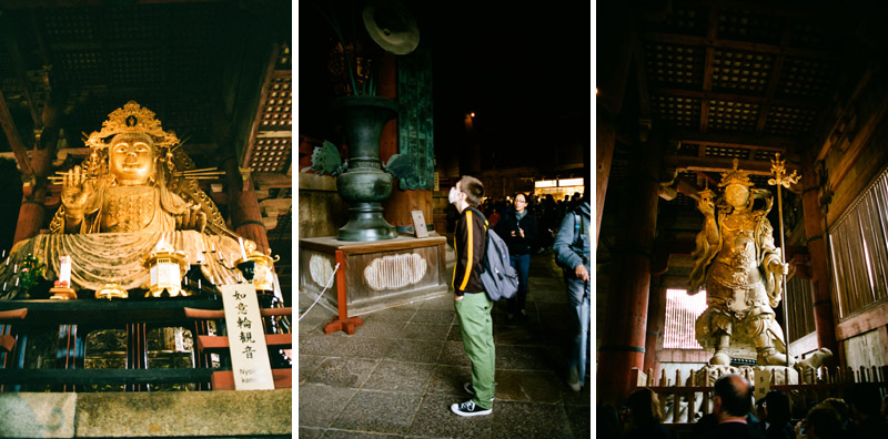 Travel photography on 35mm film at Todaiji Temple in Nara Japan