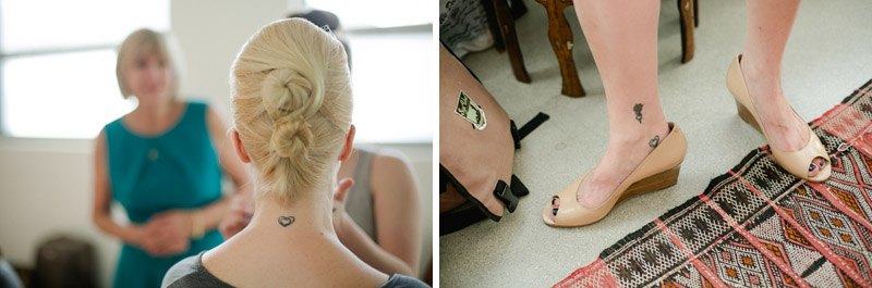 Los Angeles indie wedding photographer Jessica Schilling bride with tattoos