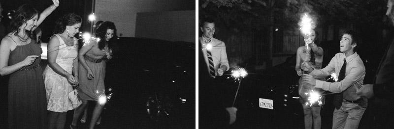 Los Angeles sparkler exit for wedding reception