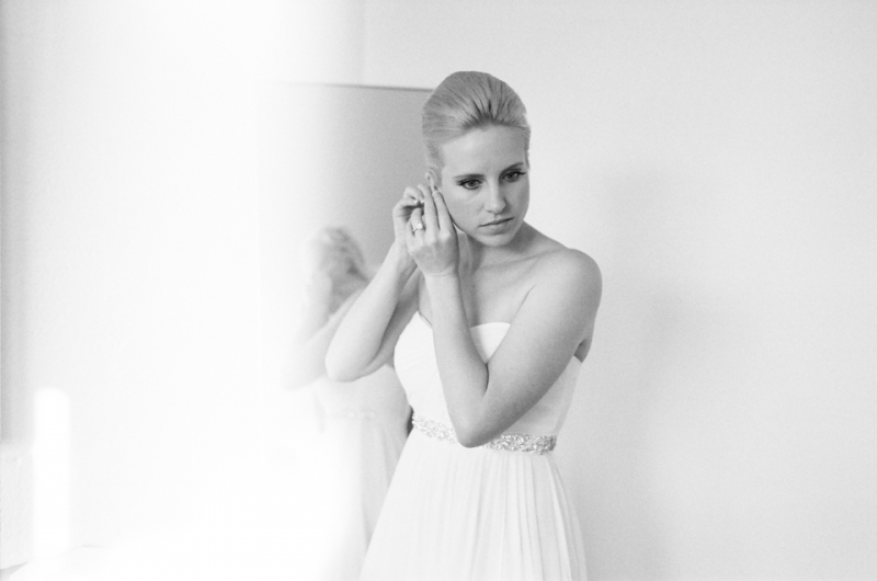 Modern fine art 35mm black and white film wedding photographer Jessica Schilling