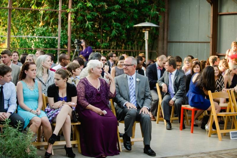 Elysian LA, modern industrial chic wedding venue for outdoor ceremony