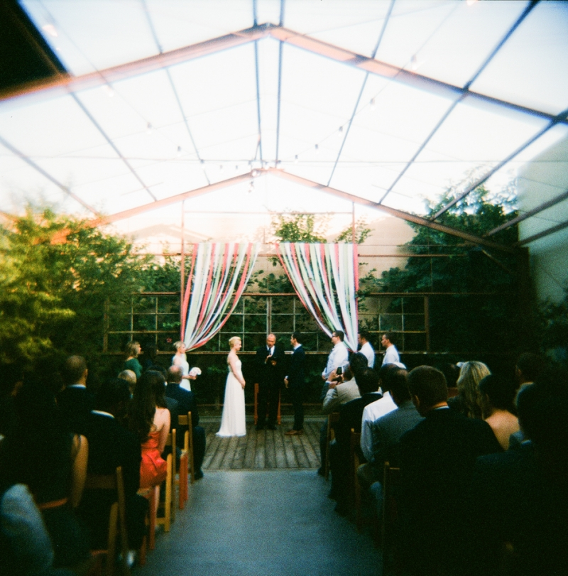 Holga toy camera wedding photography by Jessica Schilling in Los Angeles