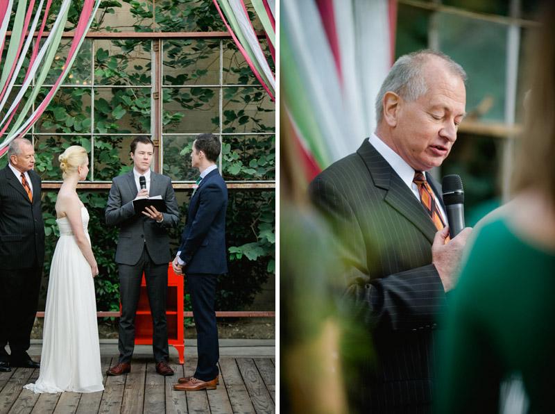 Ceremony at modern wedding venue Elysian in Los Angeles
