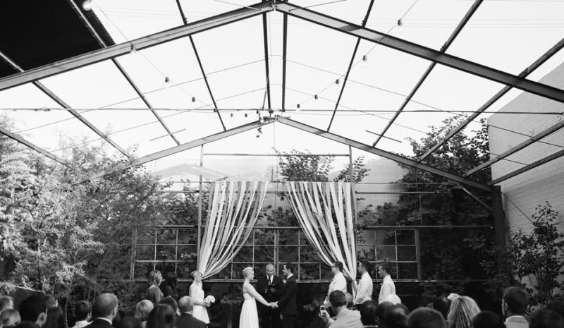Modern artistic fine art film wedding photography. Ceremony at Elysian wedding venue.
