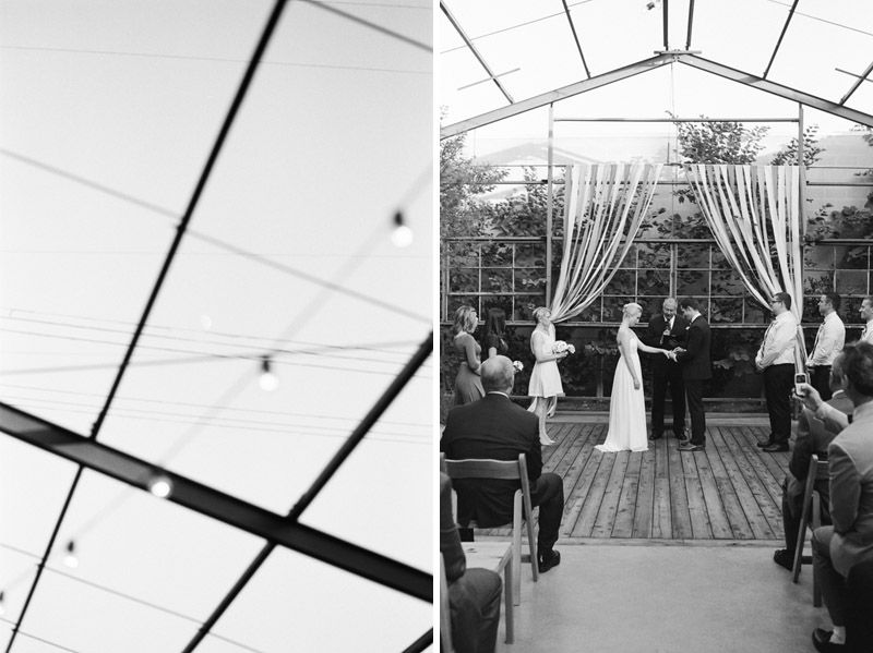 Los Angeles modern wedding photography on black and white 35mm film