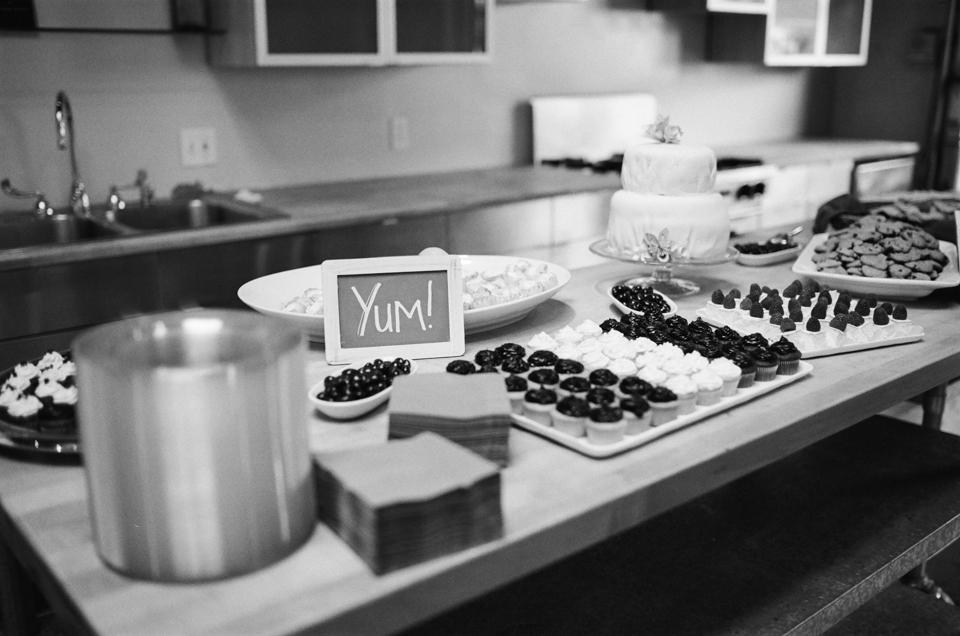 Dessert buffet at DIY wedding