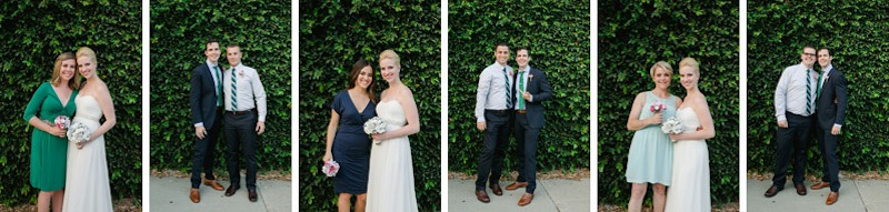 modern mix and match bridal party at Elysian wedding