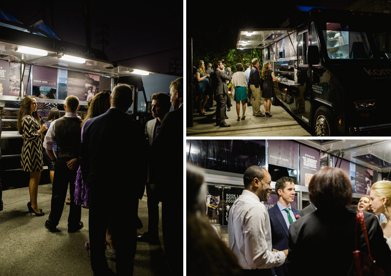 Food truck catering for wedding reception at Elysian LA
