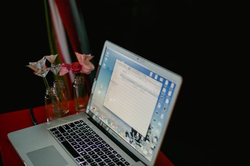 Laptop for DIY wedding reception music