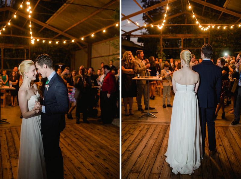 Elysian wedding reception first dance