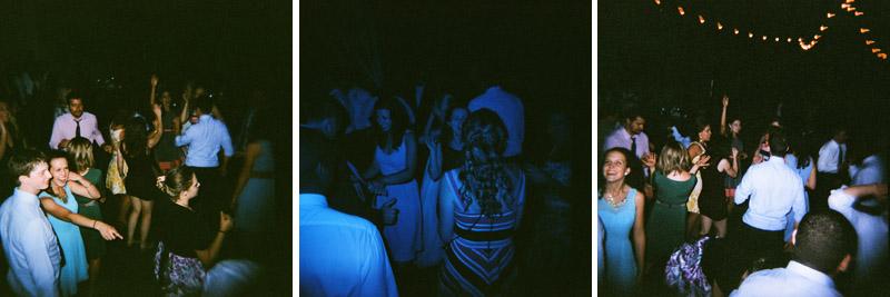 Holga toy camera wedding reception dancing color splash