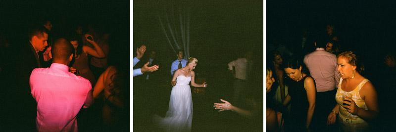 wedding dancing at reception Holga color splash toy camera