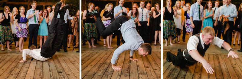 wedding reception dance off inchworm
