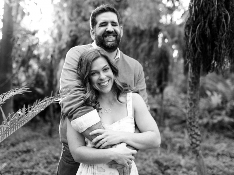 LA Arboretum engagement photo session. Adorable tall groom and short bride poses.