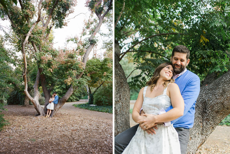 Los Angeles engagement photography. Cute sweet couple with big height difference.