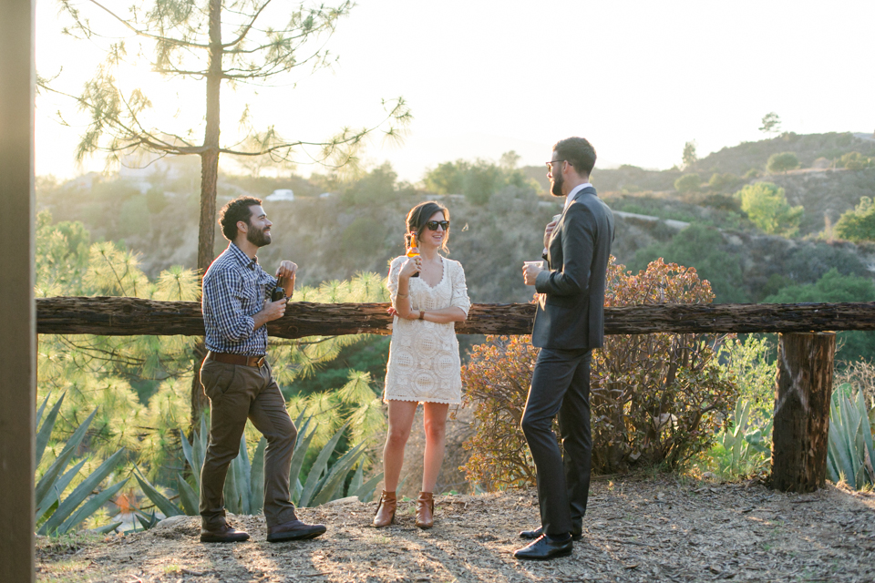 Los Angeles Angelus Mountain Center summer camp wedding at sunset