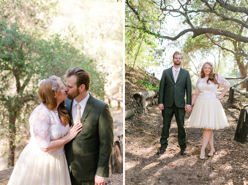 Los Angeles modern hipster wedding photography. Outdoor nature center.