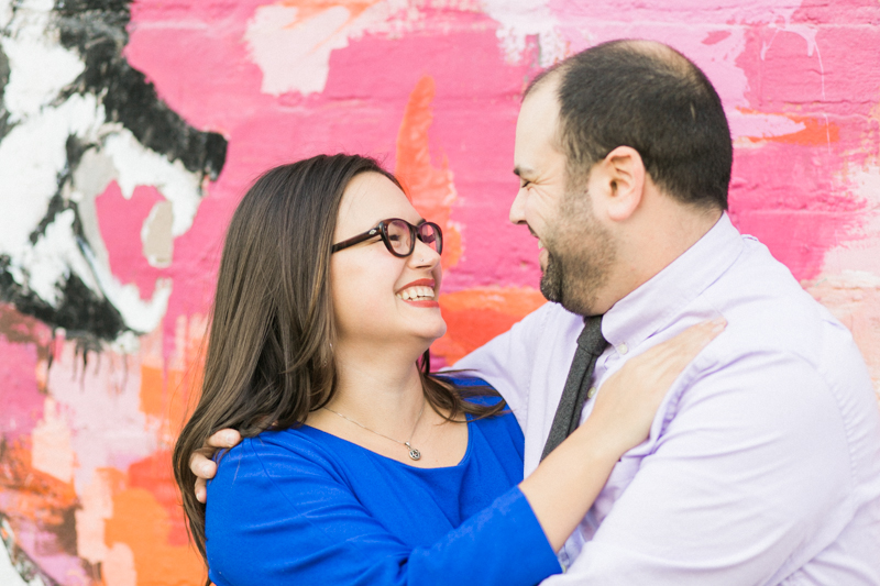 DTLA fun colorful graffiti murals engagement photography
