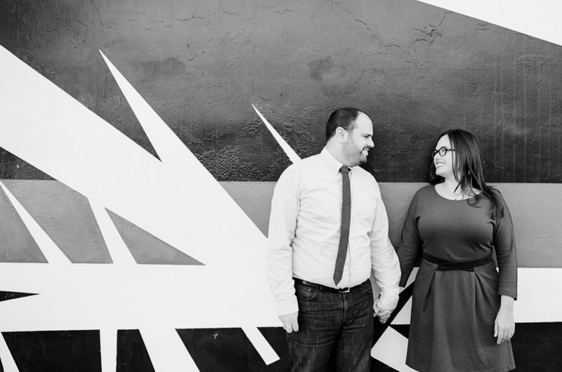 Downtown LA urban cool funky engagement session with street art murals