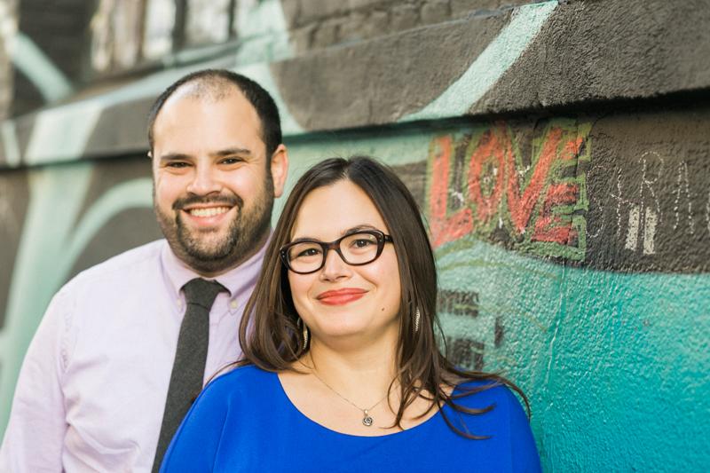 DTLA art murals Love sign for engagement photos